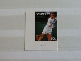 St. Vincent Wimbledon Winners  Ivan Lendl ( Without The Tennisball) Imperforated. - St.Vincent (1979-...)