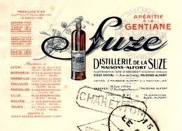 SUZE  Aperitif A La Gentiane  MAISONS ALFORT  Seine   Belle Illustration - Lettres De Change