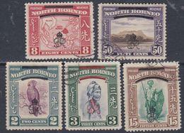 Bornéo Du Nord : Col. Britannique N° 259 / 60 +264 +267 +270 O Partie De Série : Les 5 Vals Oblit. Ou Ss Gomme Sinon TB - Bornéo Du Nord (...-1963)