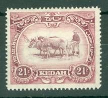 Malaya - Kedah: 1919-21   Malay Ploughing     SG22    21c      MH - Kedah