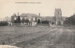 St VIGOR Les MONTS - Le Château Et L'Eglise - Autres Communes