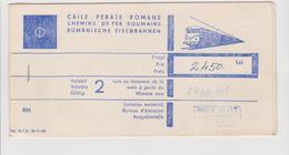 Romanian International Railway Ticket - 1979 - Route :Romanian (Cluj) To  Switzerland (Geneva)   (3 Scans) - Spoorwegen