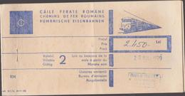 Romanian International Railway Ticket - 1979 - Route : Switzerland (Geneva) To Romanian (Cluj) (3 Scans) - Spoorwegen