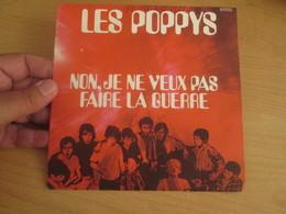 """POPPYS Vinyle 45T 7"""" NOËL 70 - NON JE NE VEUX PAS FAIRE LA GUERRE -BARCLAY 61372 - World Music"""