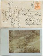 Wolfen Anhalt 1917, Sauberer Stempel Auf Ansichtskarte Nach Löbnitz, Foto Wanderer - Deutschland