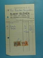 Bières, Vins, Liqueurs Albert Bléhen Frasnes-lez-Couvin /15/ - 1950 - ...
