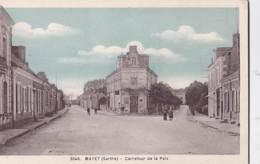 CPA  :   Mayet   (72)  Carrefour De La Paix     Editions Dolbeau      1938 - Mayet
