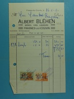 Bières, Vins, Liqueurs Albert Bléhen Frasnes-lez-Couvin /18/ - 1950 - ...