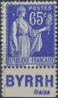 FRANCE - 1932, Mi 365, Publicitaires, Oblitéres - Publicités