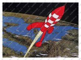 Ukraine | Postcard | Tintin | Kuifje | Destination Moon | Objectif Lune - Bandes Dessinées