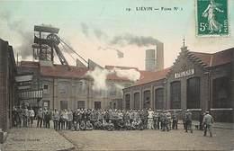 Dpts Div.-ref-AK619- Pas De Calais - Liévin - Fosse N° 1 - Ateliers - Mine - Mines - Mineurs - Carte Colorisée Bon Etat- - Lievin