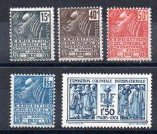 FRANCE - YT N° 270 à 274 - Neufs ** - MNH - Cote: 145,00 € - Neufs