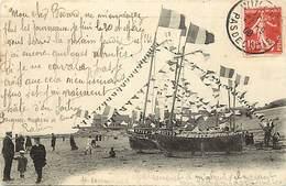 Dpts Div.-ref-AK616- Pas De Calais - Wimereux - Bateaux Pavoisés - Bateau - Carte Bon Etat - - Andere Gemeenten