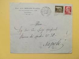 1936 BUSTA INTESTATA ITALIA ITALY REGNO BOLLO SERIE IMPERIALE ANNULLO NAPOLI - 1900-44 Vittorio Emanuele III