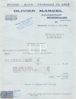 14-1537   1950 BEURRE OEUFS FROMAGES EN GROS OLIVIER MARCEL A ROCHEFORT SUR MER - MONSIEUR LE DIRECTEUR DE LA LAITERIE A - France