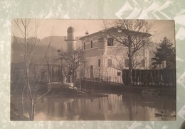 Terni Villa Fongoli Cartolina Privata Viaggiata 1906 - Terni