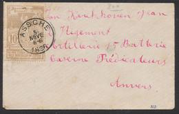 """Expositions - N°72 Sur Petite Lettre Obl Simple Cercle """"Assche"""" Vers Anvers. TB - 1894-1896 Expositions"""