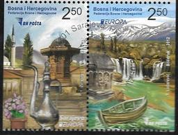 2012 BOSNIA And Herzegovina  Bosnien- Herzegowina  Booklet Set Mi. 589-0 DR Used  Booket Set Europa - Europa-CEPT