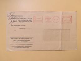 1996 BUSTA INTESTATA ITALIA ITALY  AFFRANCATURA MECCANICA ROSSA MONTE DEI PASCHI DI SIENA ANNULLO SIENA - Affrancature Meccaniche Rosse (EMA)