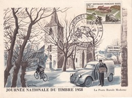 ALSACE-LORRAINE 1958  CARTE  JOURNEE DU TIMBRE THANN - Alsace Lorraine