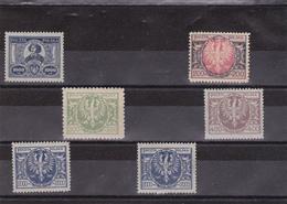 Lot De 6 Timbres Pologne Neuf XX 1923 Avec Gomme D'origine - 1919-1939 Republic