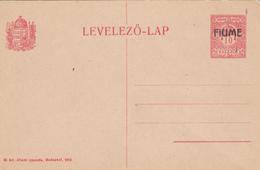 AV88 - INTERO POSTALE 10 FILLER FIUME 1918 NUOVO PERFETTO - Fiume