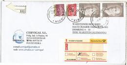 VIGO PONTEVEDRA CC CERTIFICADA SELLOS BASICA - 1931-Hoy: 2ª República - ... Juan Carlos I