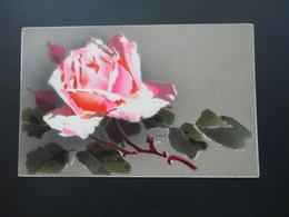 Österreich Um 1910 AK / Gemalte Blume / Rose Verwendet In Böhmen - Blumen