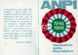 """TESSERA_TESSERE_DOCUMENTO/I-""""ANPI 1966"""" ORIGINALE 100%- - Vecchi Documenti"""