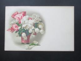 Österreich Um 1917 AK / Gemalte Blumen In Vase / Tulpen Meissner & Buch Leipzig Künstler Postkarten Serie 2257 - Blumen