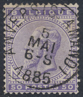 """émission 1883 - N°41 Obl Simple Cercle """"Anvers (Station)"""". Superbe Centrage. - 1883 Léopold II"""