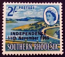 Rhodésie Rhodesia 1965 Barrage Dam Surchargé Overprint INDEPENDENCE Yvert 124 * MH - Rhodesia (1964-1980)