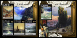 CENTRAL AFRICA 2019 - Ivan Aivazovsky, M/S + S/S Official Issue - Art