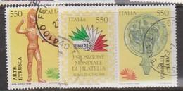 Italy Republic S 1696-1698 1984 Italia 85 Propaganda 2nd Issue Used - 6. 1946-.. Republic