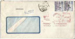 MADRID CC CERTIFICADA SELLOS CASTILLO CASTLE Y FRANQUEO MECANICO COCHE CAR - 1931-Hoy: 2ª República - ... Juan Carlos I