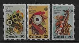 Serie De Canadá Nº Yvert 594/96 ** - 1952-.... Reinado De Elizabeth II
