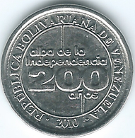 Venezuela - 25 Céntimos - 2010 - 200th Anniversary Of Declaration Of Independence - KMY99 - Venezuela