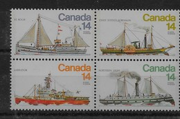 Serie De Canadá Nº Yvert 685/88 ** BARCOS (SHIPS) - 1952-.... Reinado De Elizabeth II