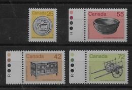 Serie De Canadá Nº Yvert 997/00 ** - 1952-.... Reinado De Elizabeth II