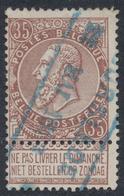 """Fine Barbe - N°61 Cachet Chemin De Fer Bleu """"Moorslede"""" - 1893-1900 Fine Barbe"""