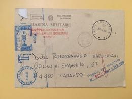 1998 BUSTA INTESTATA ITALIA ITALY  AFFRANCATURA MECCANICA BLU MARINA MILITARE ANNULLO TARANTO - Affrancature Meccaniche Rosse (EMA)