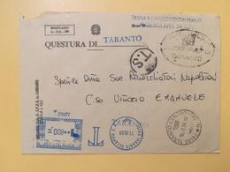 1998 BUSTA INTESTATA ITALIA ITALY  AFFRANCATURA MECCANICA BLU QUESTURA ANNULLO TARANTO - Affrancature Meccaniche Rosse (EMA)