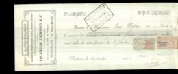 0-3211-L-D-C-4293   Auto Palace Eugène Therssen&cie à Roubaix M.van Welden 30-7-1920 - Lettres De Change