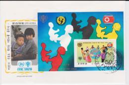 Korea Souvenir Sheet  1979 FDC International Year Of The Children (G100-5) - Enfance & Jeunesse