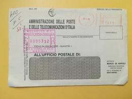 1996 BUSTA INTESTATA ITALIA ITALY  AFFRANCATURA MECCANICA ROSSA  ANNULLO POMPEI - Affrancature Meccaniche Rosse (EMA)