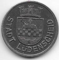 Notgeld Ludenscheid 10 Pfennig 1919 Fe  8517.2 - Otros