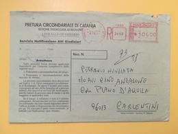 1997 BUSTA INTESTATA ITALIA ITALY  AFFRANCATURA MECCANICA ROSSA  ANNULLO CARLENTINI - Affrancature Meccaniche Rosse (EMA)