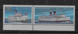 Serie De Canadá Nº Yvert 1013/14 ** BARCOS /SHIPS) - 1952-.... Reinado De Elizabeth II