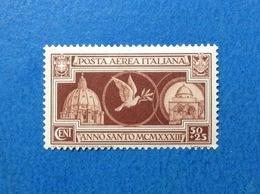 1933 ITALIA REGNO ANNO SANTO POSTA AEREA 50 + 25 FRANCOBOLLO NUOVO STAMP NEW MNH** - Poste Aérienne