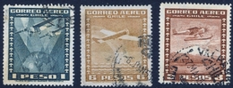 CHILE #208-10   -  AIRPLANES - AIRMAIL  1934 - USED - Chile